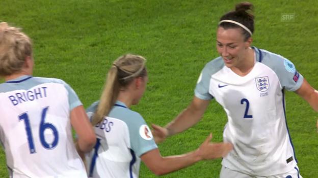 Video «Englands Frauen kantern Schottinnen nieder» abspielen