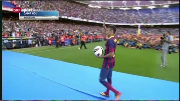 Video «Die hohen Erwartungen an Neymar in Barcelona und Brasilien» abspielen