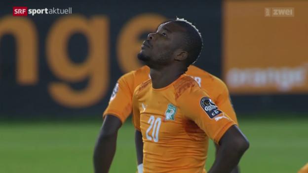 Video «Fussball: Afrika Cup in Äquatorialguinea» abspielen