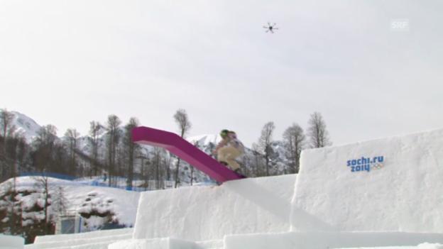 Video «Snowboard Slopestyle: Der Sieges-Run von Jamie Anderon (sotschi direkt, 9.2.2014)» abspielen