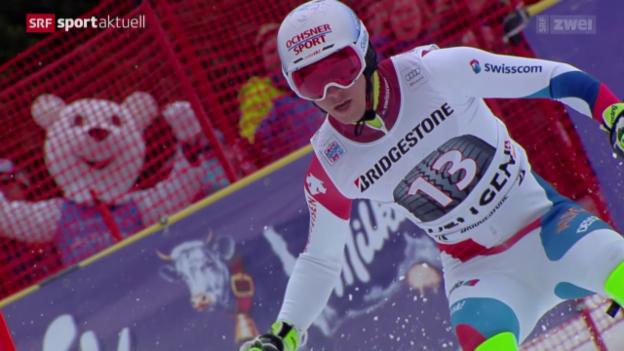 Video «Ski alpin: Super-Kombi in Wengen» abspielen