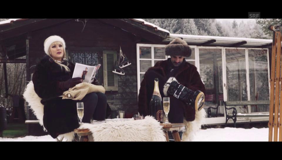 Chic im Schnee: Smartphone