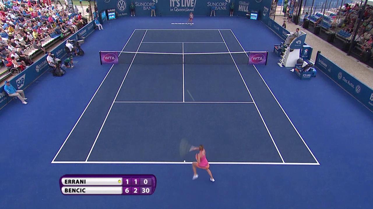 Tennis: WTA Brisbane 2016, Bencic mit Auftaktsieg
