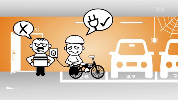 Video ««Darf man das?»: E-Bike in Gemeinschaftsgarage aufladen» abspielen