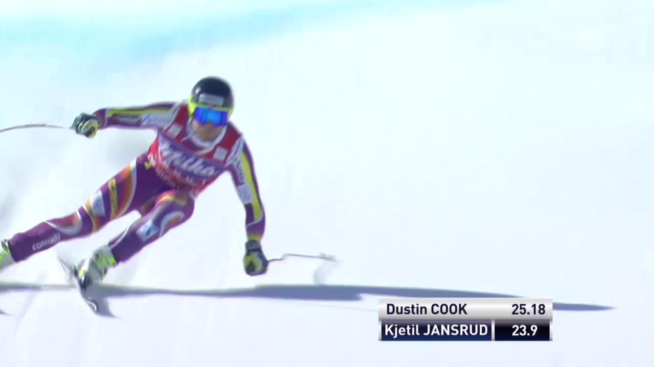 Ski: Super-G Männer in Méribel, Fahrt von Jansrud