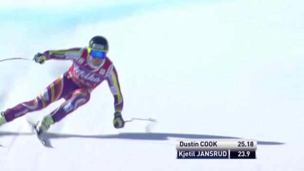 Video «Ski: Super-G Männer in Méribel, Fahrt von Jansrud» abspielen