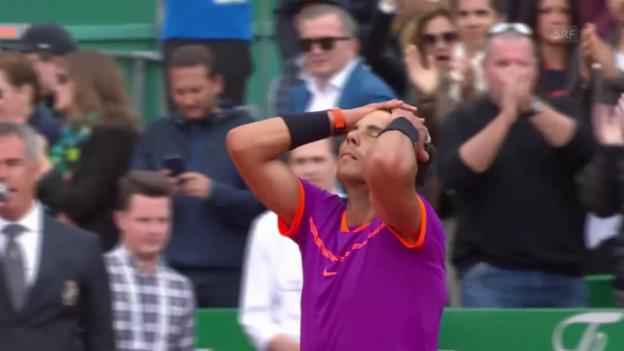 Video «Nadals Jubiläum vor den Augen des Prinzen von Monaco (SNTV)» abspielen