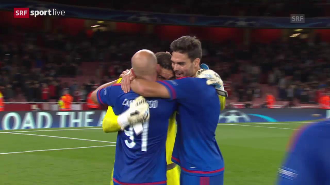 Fussball: Champions League, Gruppenphase, 2. Spieltag, Arsenal - Olympiakos Piräus