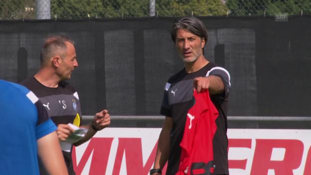 Video «Murat Yakin leitet erstes GC-Training» abspielen