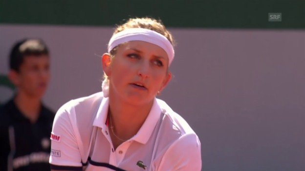 Video «Tennis: Bacsinszky-Van Uytvanck, Highlights» abspielen