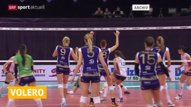 Video «Volleyball: Volero trifft im CL-Achtelfinal auf Cannes («sportaktuell»)» abspielen