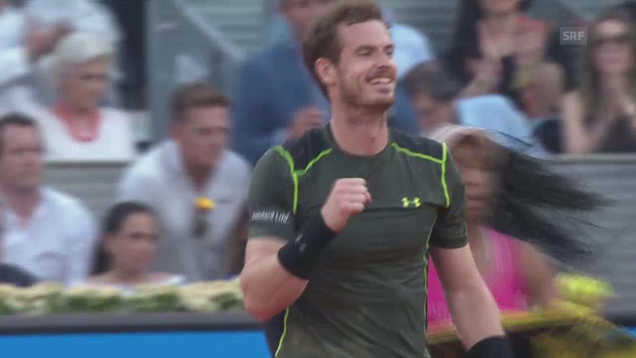 Tennis: ATP Madrid: Murray-Nadal