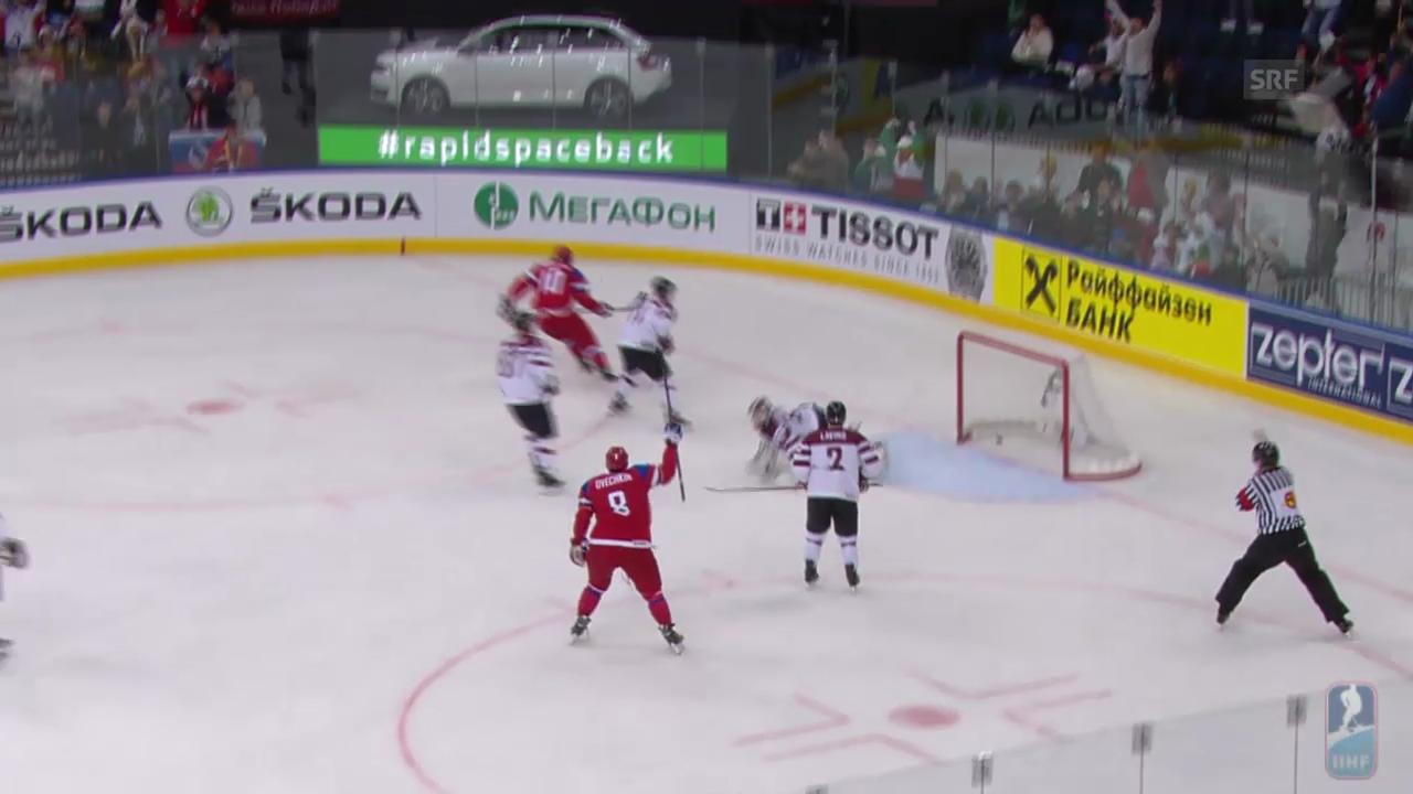 Eishockey: WM in Weissrussland, Gruppenphase, Highlights Russland - Lettland