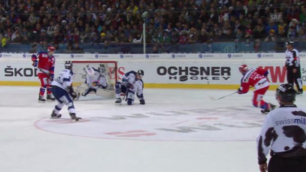 Video «Eishockey: Spengler Cup, Viertelfinal ZSKA Moskau - Vitkovice («sportlive», 29.12.13)» abspielen