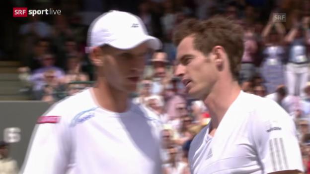 Video «Wimbledon: 2. Runde, Zusammenfassung Murray - Rola» abspielen