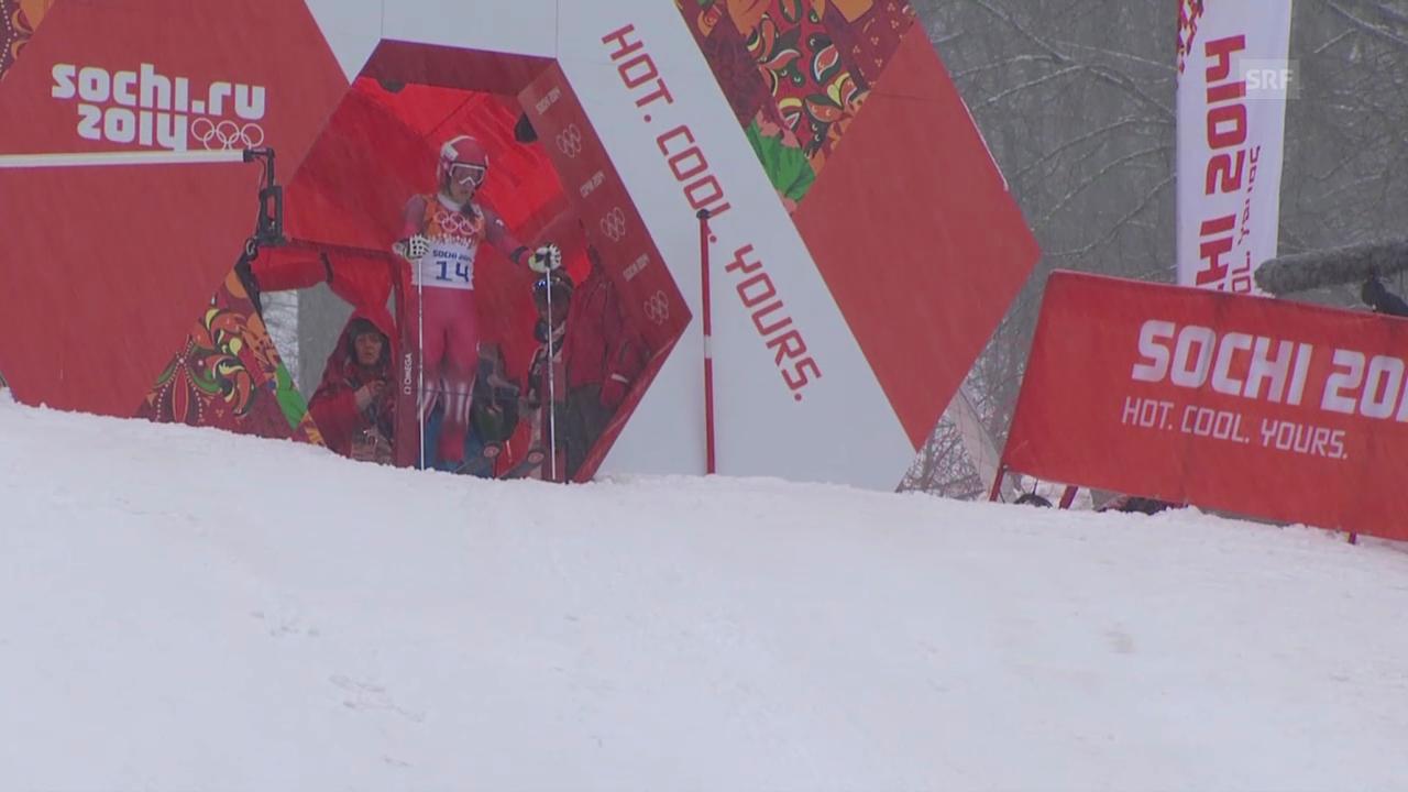 Sotschi: Riesenslalom Frauen, 1. Lauf, Dominique Gisin (sotschi direkt, 18.2.14)