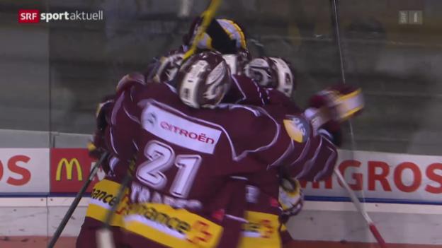 Video «Eishockey: NLA, Genf - ZSC Lions» abspielen