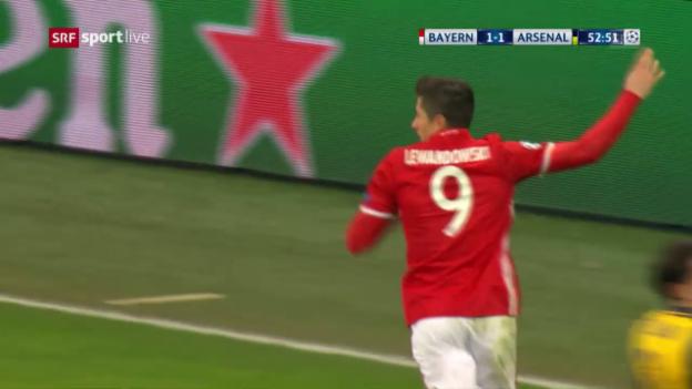 Video «3 Tore in 10 Minuten: Bayern überfährt Arsenal» abspielen