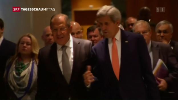 Video «Kerry und Lawrow treffen sich in Genf» abspielen