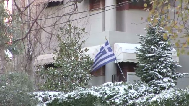 Schnee in Athen
