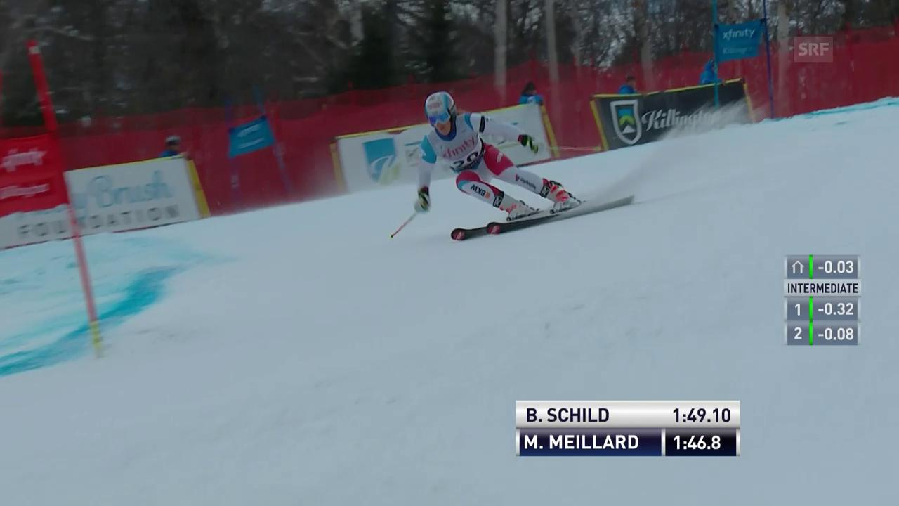 Der 2. Lauf von Mélanie Meillard