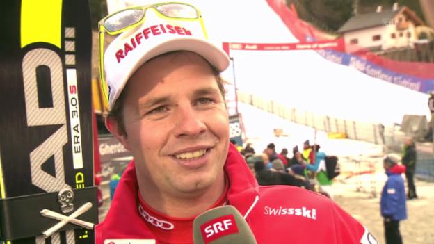 Video «Ski Alpin: Abfahrt in Gröden, Interview mit Beat Feuz» abspielen