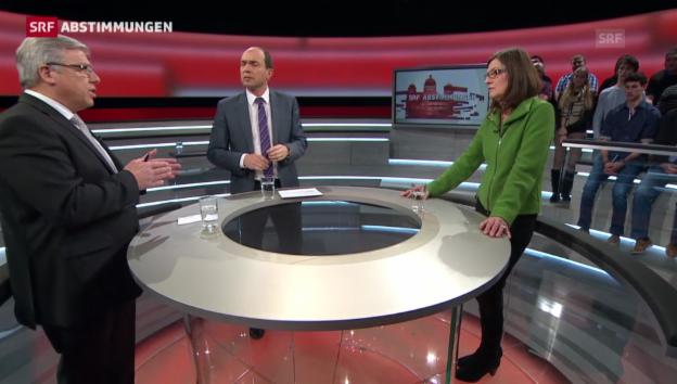 Video «Abtreibungs-Vorlage: Gegner und Befürworter am Runden Tisch» abspielen