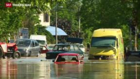 Video «Kaum Entwarnung für Katastrophen-Gebiete in Südosteuropa » abspielen
