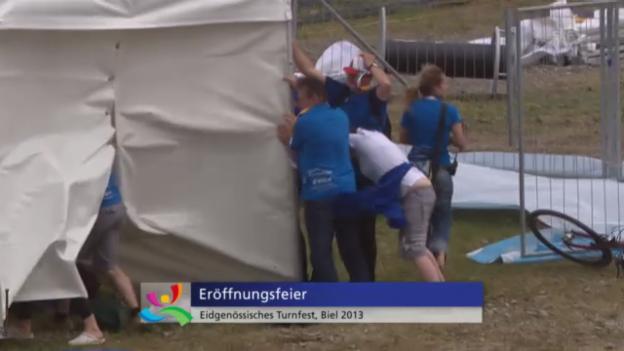 Video «Vom Winde verweht: Die Eröffnungsfeier des Eidgenössischen Turnfestes» abspielen