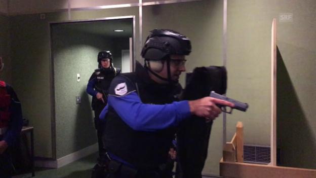 Video «So übt die Freiburger Kantonspolizei (27.3.2017)» abspielen