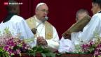 Video «Höhepunkt der Osterfeier in Rom» abspielen