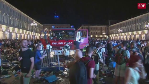 Video «So kam es zur Massenpanik in Turin» abspielen
