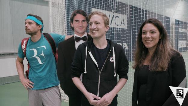 Video «Büssi on Tour: Auf Roger-Federer-Wallfahrt in Biel» abspielen