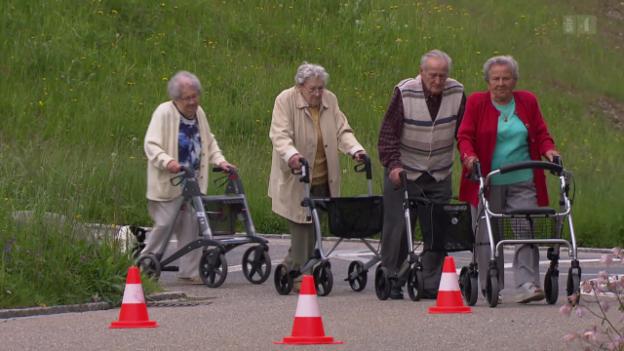 Video «Rollatoren im Test: Mit diesen sind Senioren sicher unterwegs» abspielen