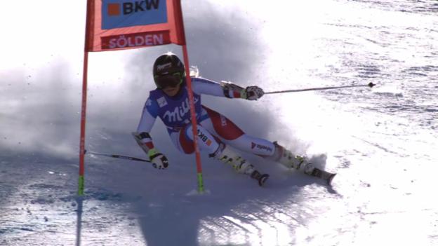 Video «Ski alpin: RS Sölden, 2. Lauf Gut» abspielen