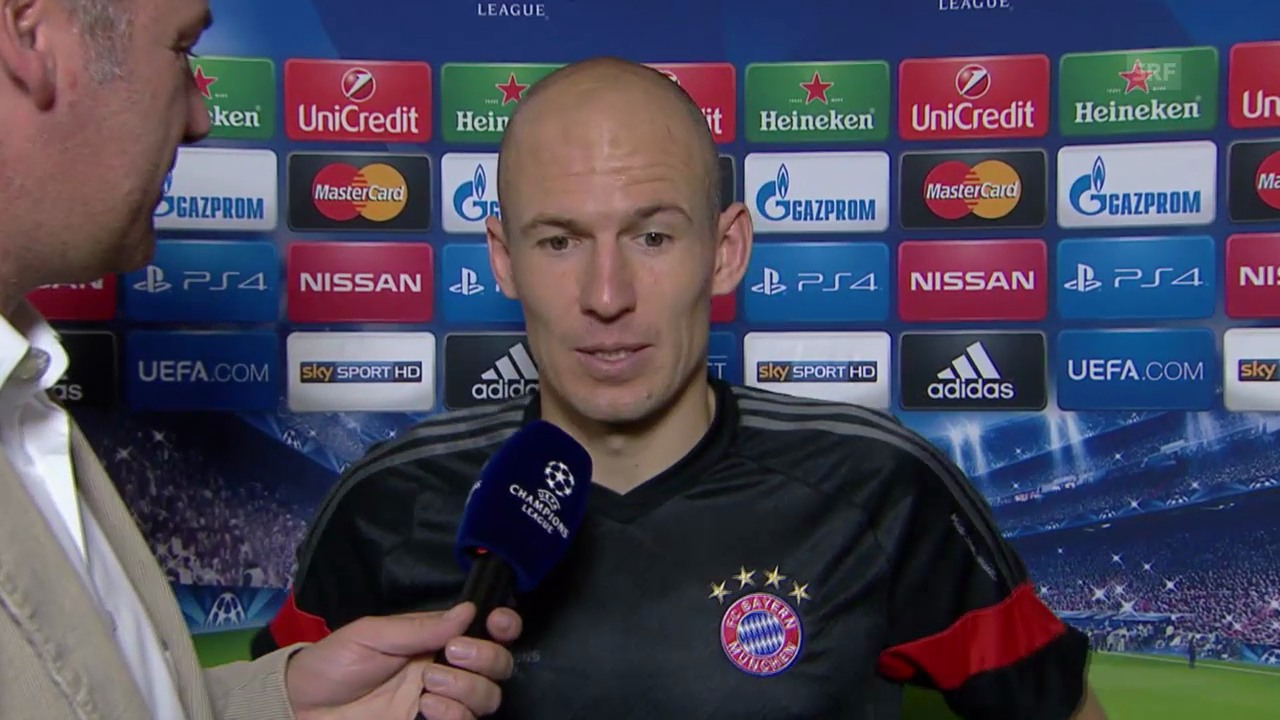 Fusball: Champions-League, AS Roma - Bayern, Interview mit Bayern-Spielern