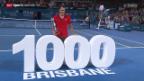 Video «Tennis: ATP Turnier in Brisbane, Final Federer - Raonic» abspielen