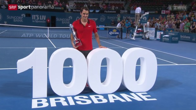 Video «Tennis: ATP Turnier in Brisbane, Final Federer - Raonic» abspielen