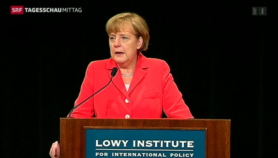 Deutliche Kritik von Merkel an Putin
