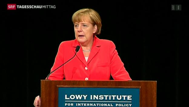 Video «Deutliche Kritik von Merkel an Putin» abspielen