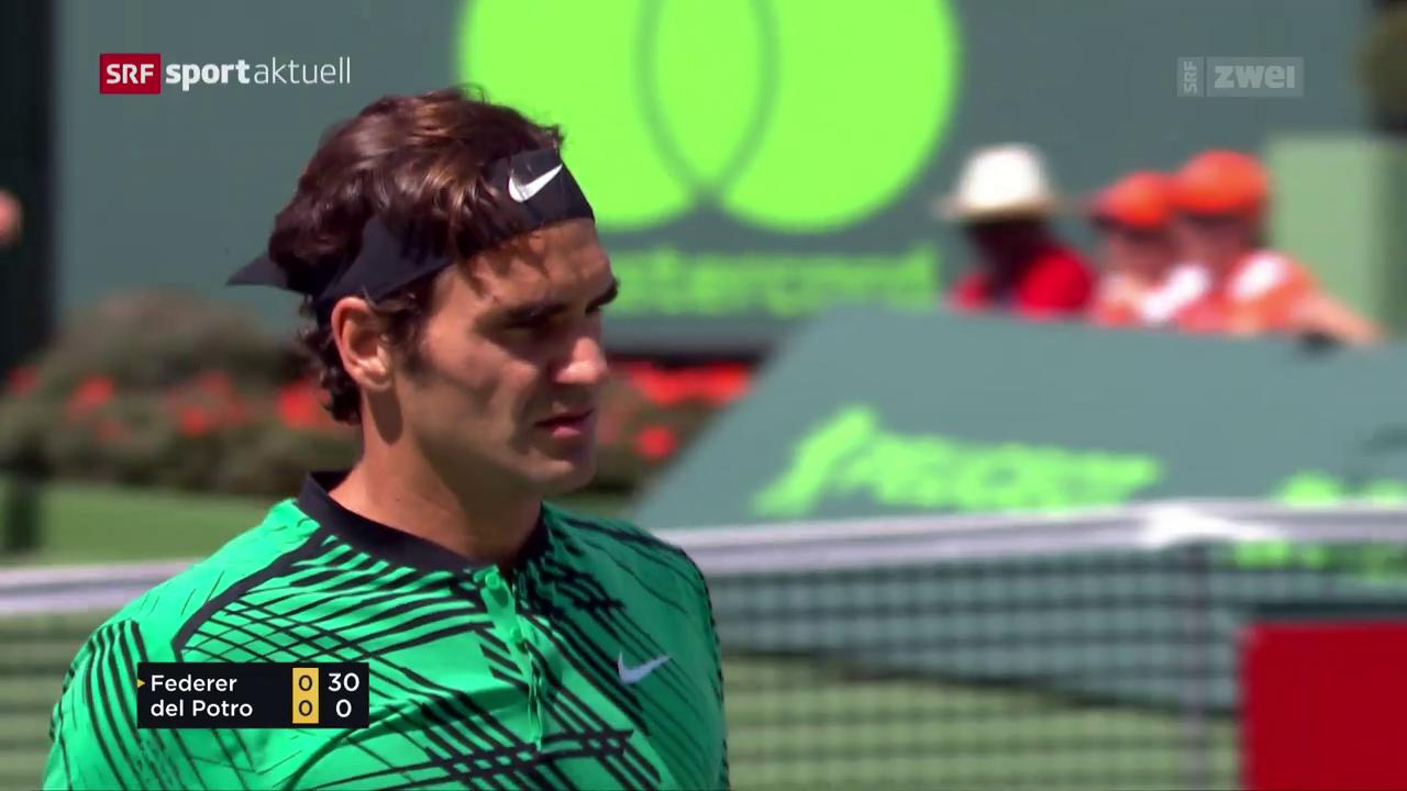 Federer bezwingt Del Potro