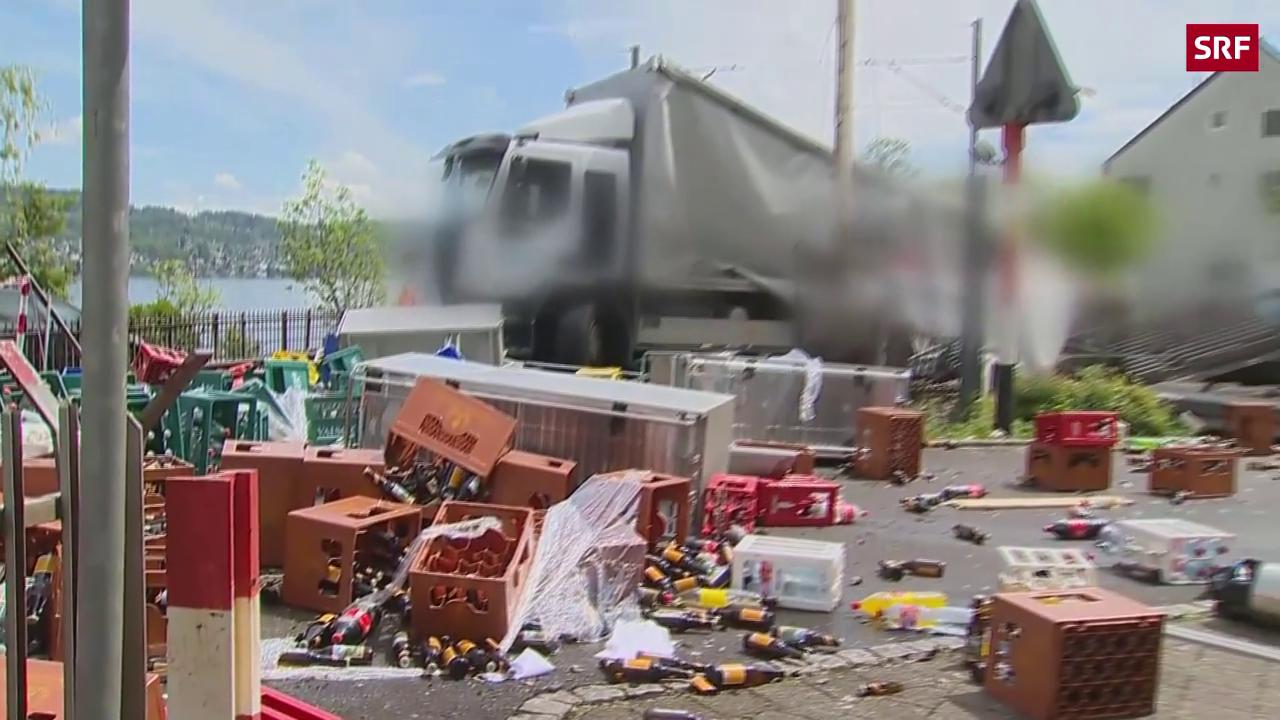 Die Bilder des Unfalls auf der Schiene in Horgen (ZH)