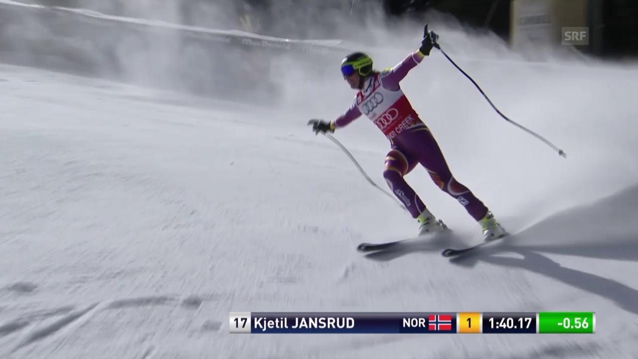 Ski Alpin, Beaver Creek 2014, Perfekte Fahrt und Sieg von Jansrud