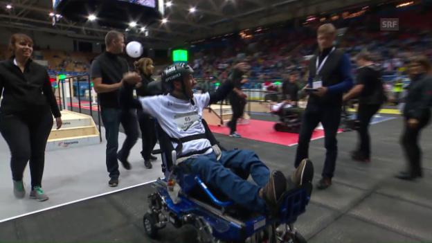Video «Rollstuhl-Final: erste Goldmedaille für die Schweiz» abspielen