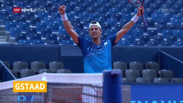 Video «Mathieu im Gstaad-Halbfinal» abspielen