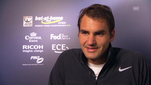 Tennis: Federer über den Turnierstart in Hamburg
