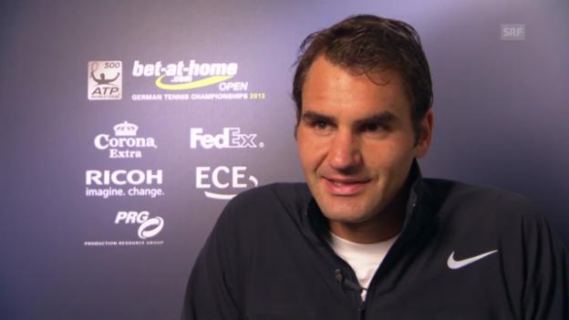 Video «Tennis: Federer über den Turnierstart in Hamburg» abspielen
