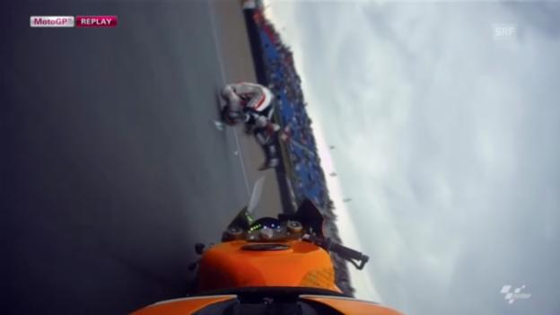 Video «Motorrad: Sturz von Pedrosa» abspielen