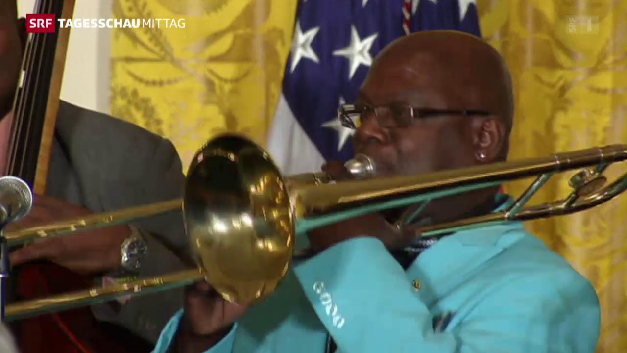 Kubanische Band im Weissen Haus