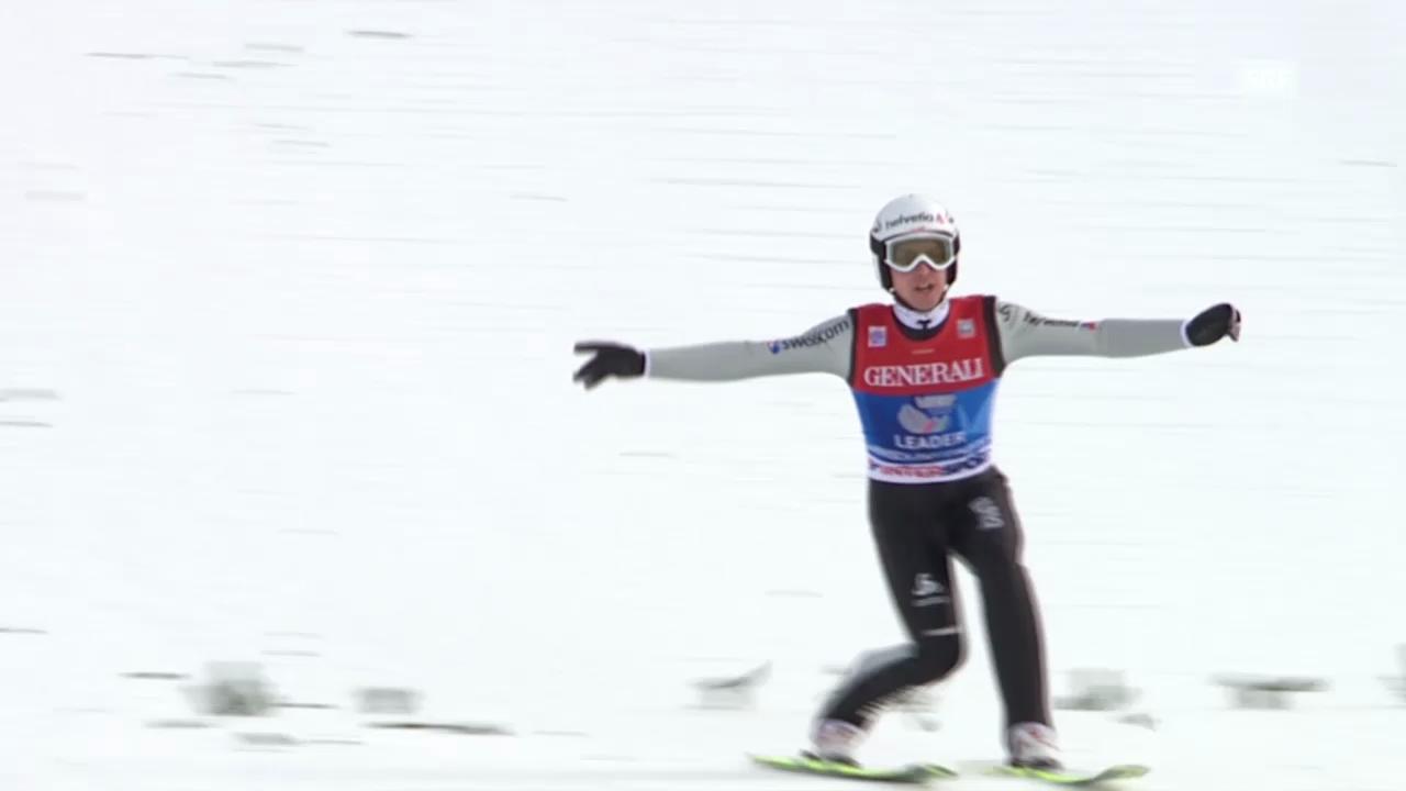 Skispringen: Vierschanzentournee Garmisch, Duell Ammann - Wenig («sportlive» vom 1.1.2014)